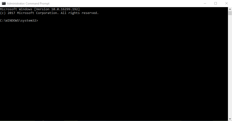 Administrator command prompt.